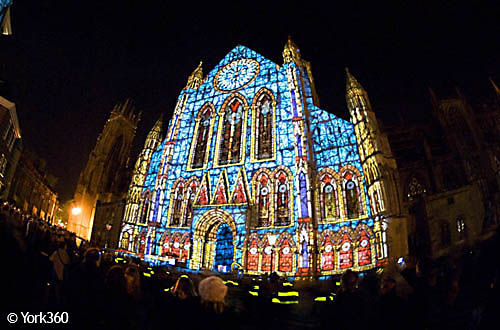 'Rose' - Sound & Light Installation at York Minster
