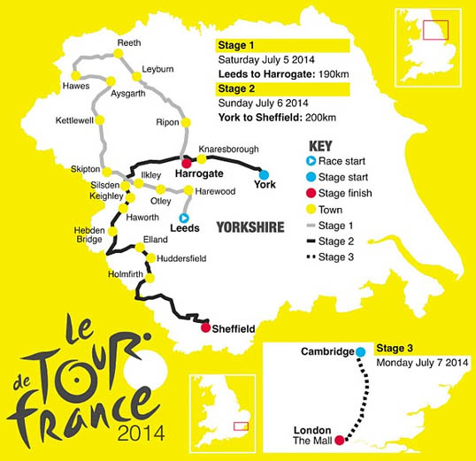 Tour De France Yorkshire Route
