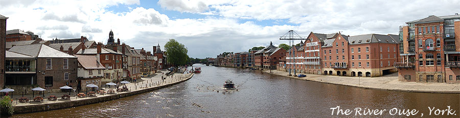 View from Ouse Bridge towards Skeldergate Bridge