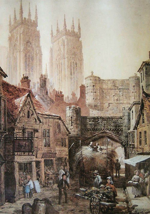 Painting of Bootham Bar York