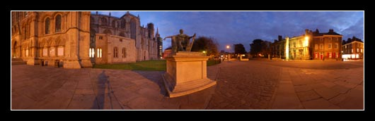 Emperor Constantine Night Photo outside York Minster