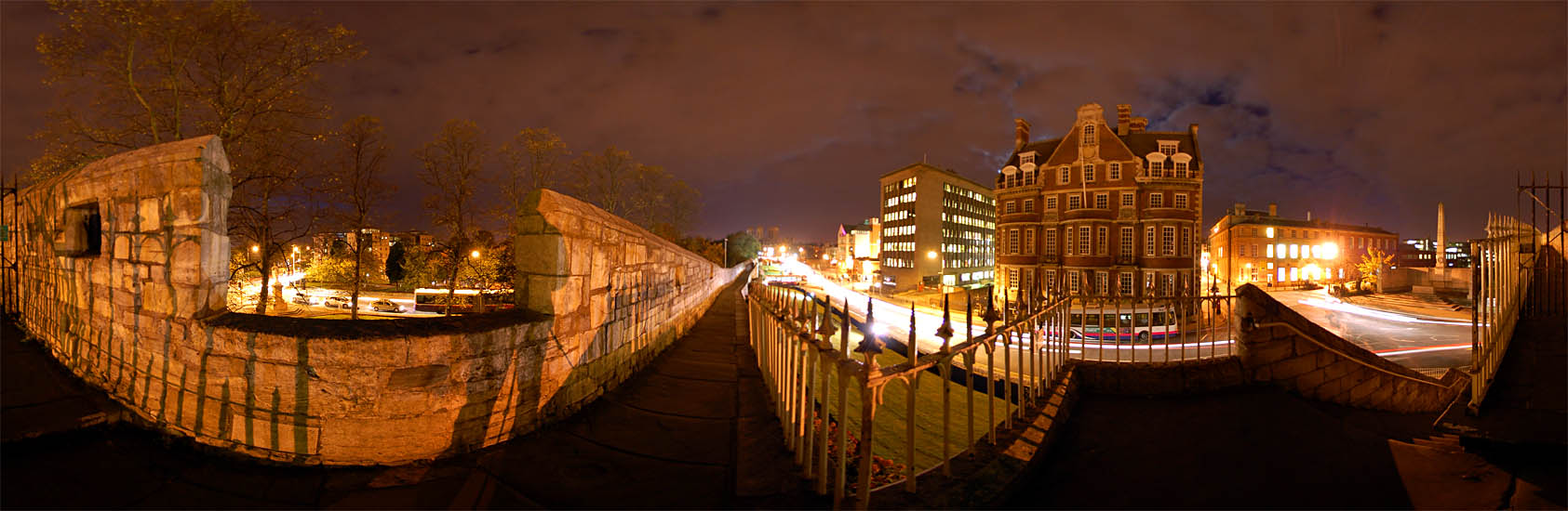 View From The Walls Near Station Rd York Panoramic Photo