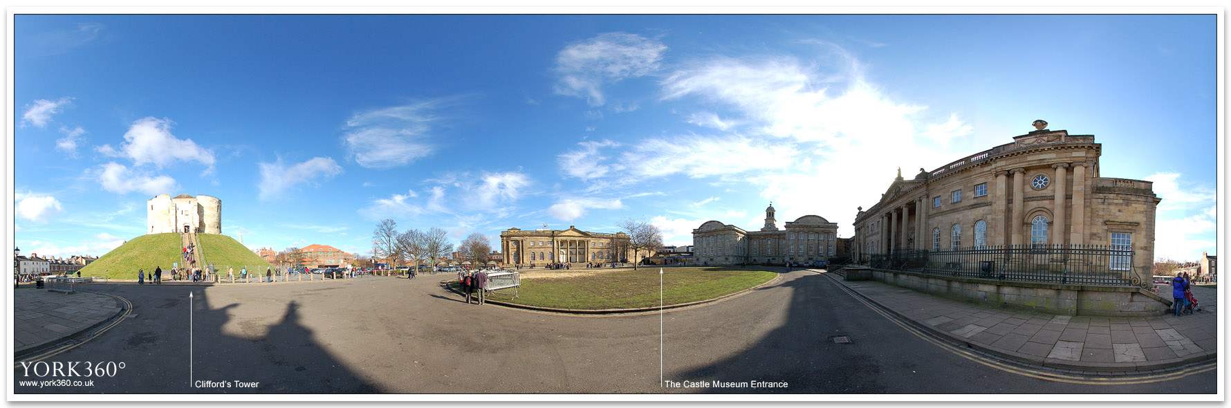 Panoramic Photo Of York Castle Area The Eye Of York