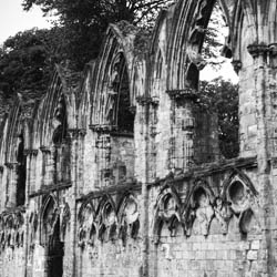 Black and White - St Marys Abbey