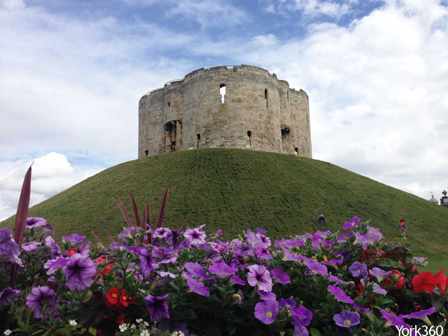 Clifford's Tower Summer Flowers