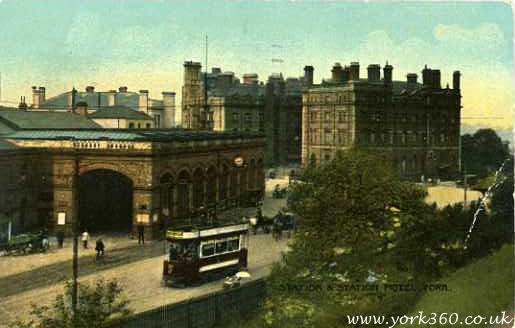 York Station and Hotel Postcard
