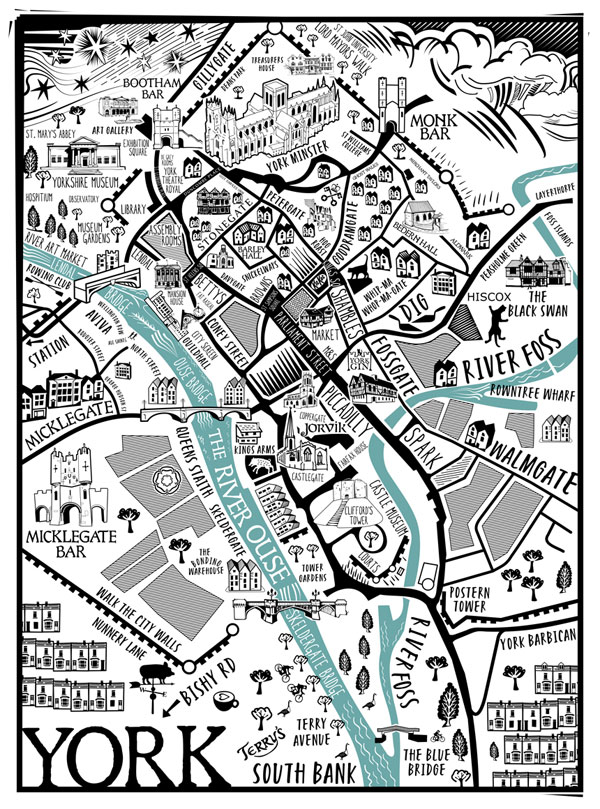 Map of York Print