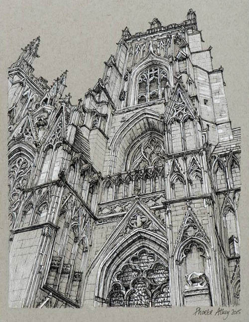 Prints of york illustrations of york photography prints for Printing architectural drawings