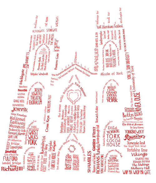 York Minster Words Illustration
