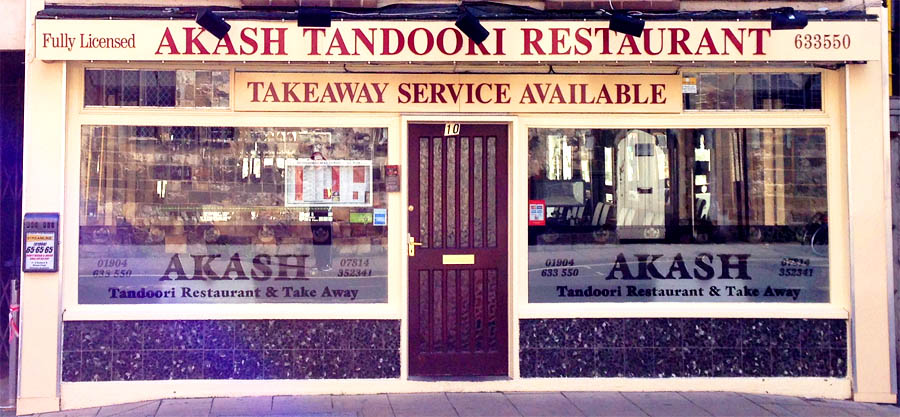 Akash tandoori indian restaurant north street york for Akash indian cuisine